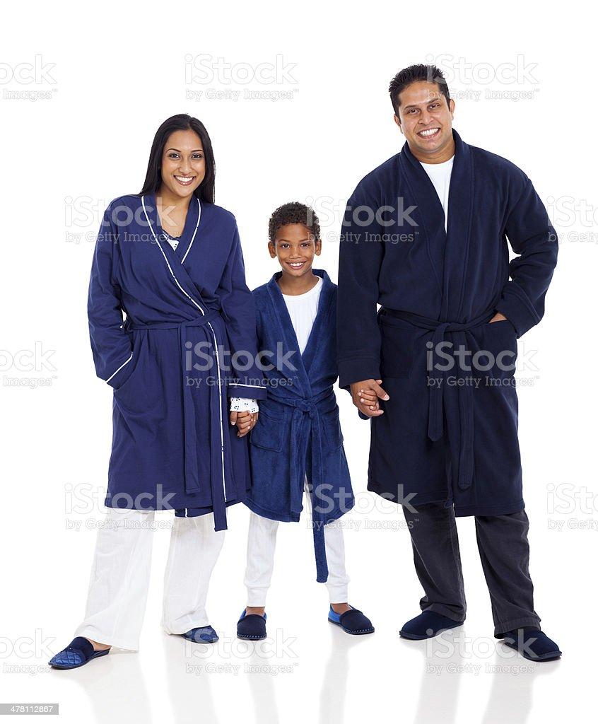 indian family wearing pajamas royalty-free stock photo