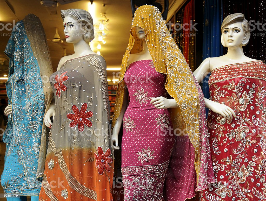 Indian Fashion. stock photo