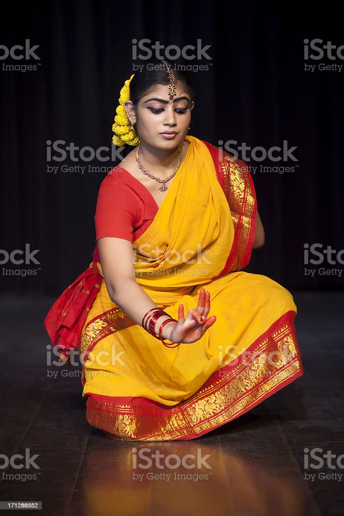 Indian Female Classical Dancer stock photo