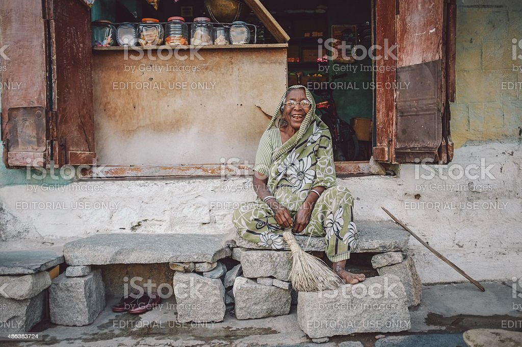 Indian female vendor stock photo