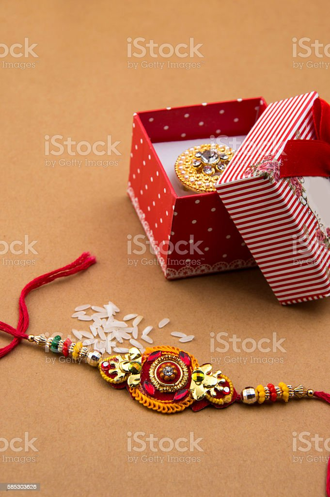 Indian festival: Raksha Bandhan, Rakhi. stock photo