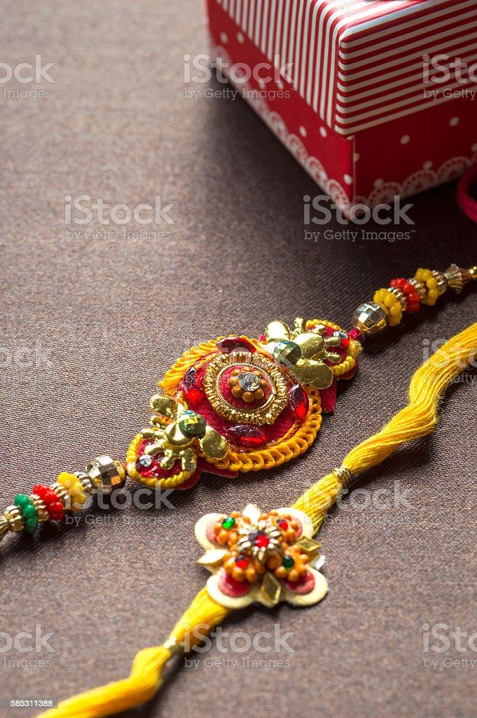 Indian festival: Raksha Bandhan, Rakhi. stock photo