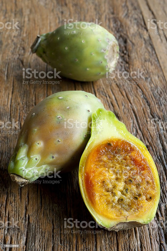 Indian fig tropical fruit stock photo