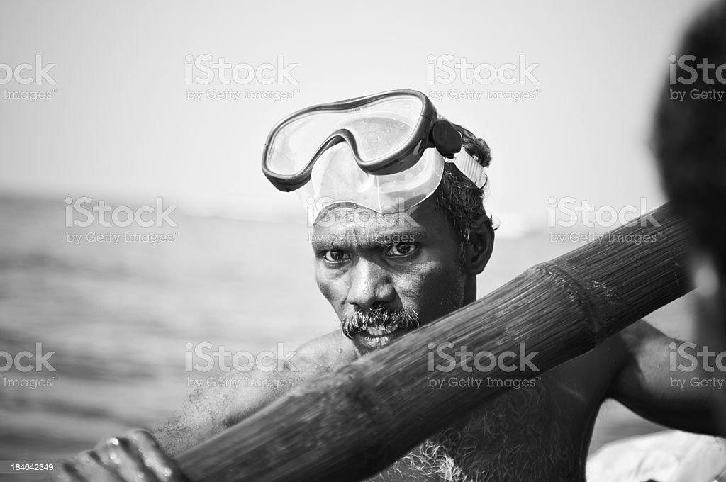 Indian fisherman stock photo