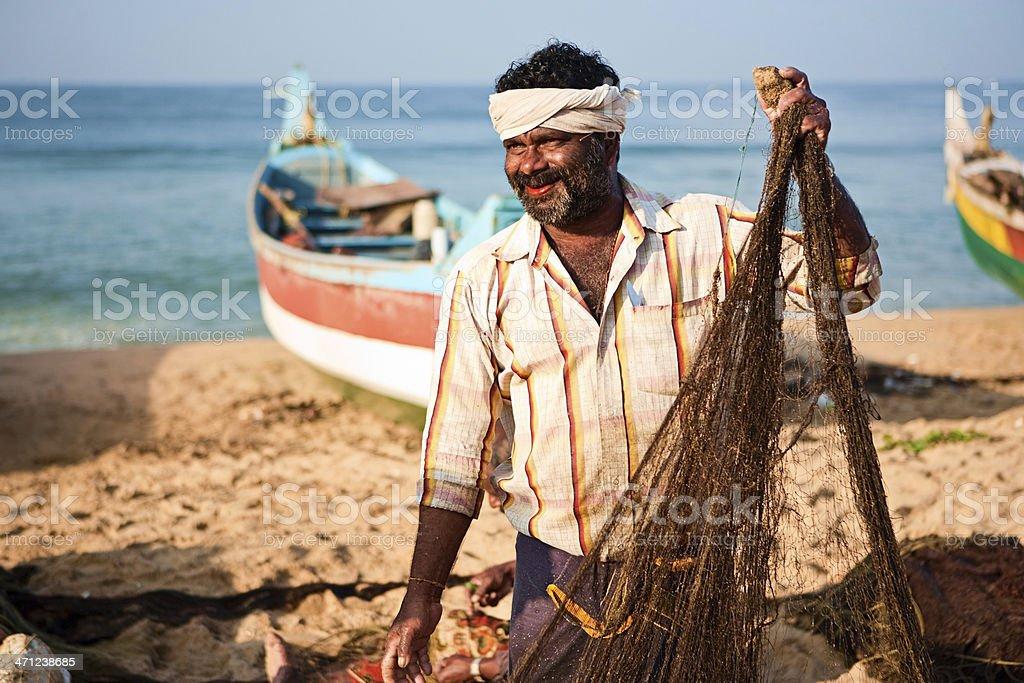 Indian fishermen royalty-free stock photo