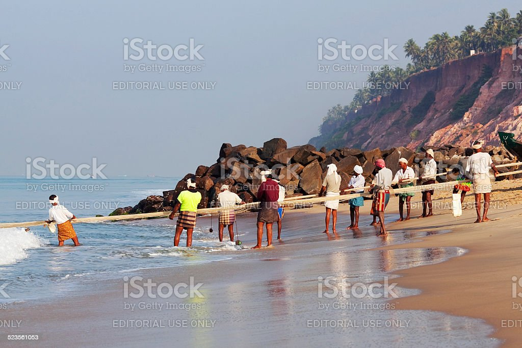 Indian Fishermen stock photo