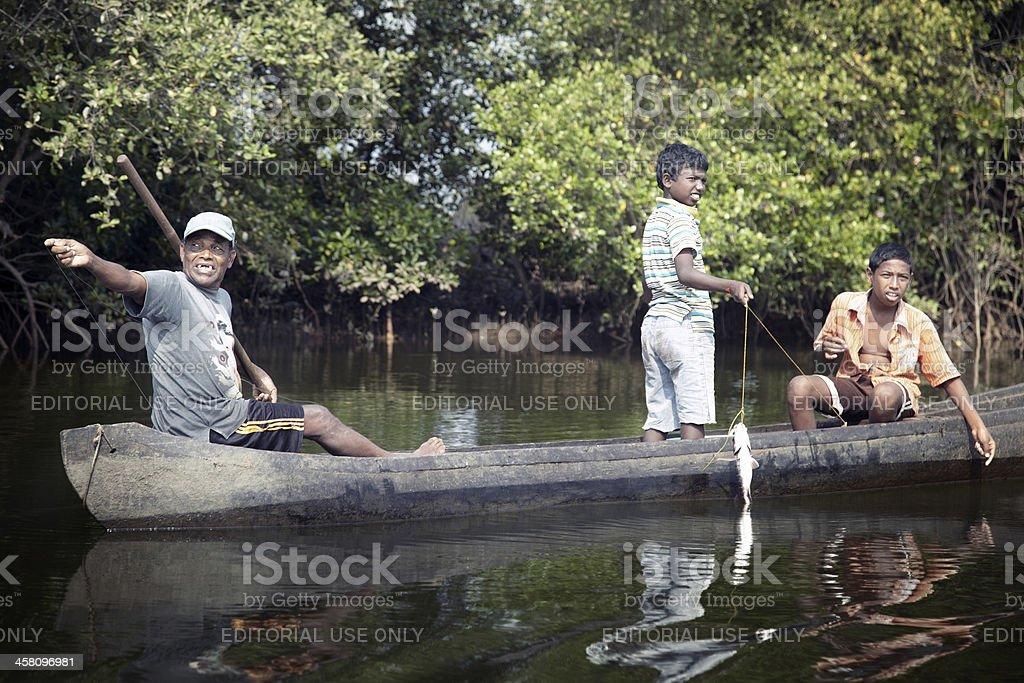 Indian fishers famliy royalty-free stock photo
