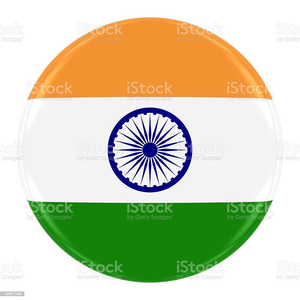 Indian Flag Badge stock photo