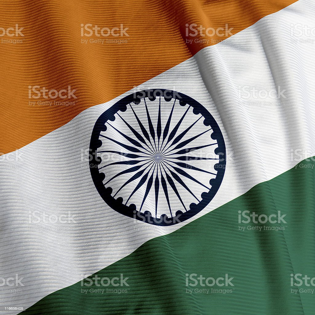 Indian Flag Closeup stock photo