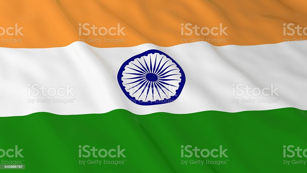 Indian Flag HD Background - Flag of India 3D Illustration stock photo