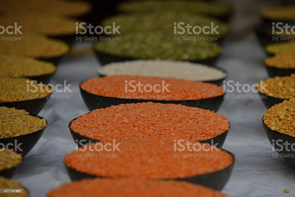Indian flag of beans stock photo