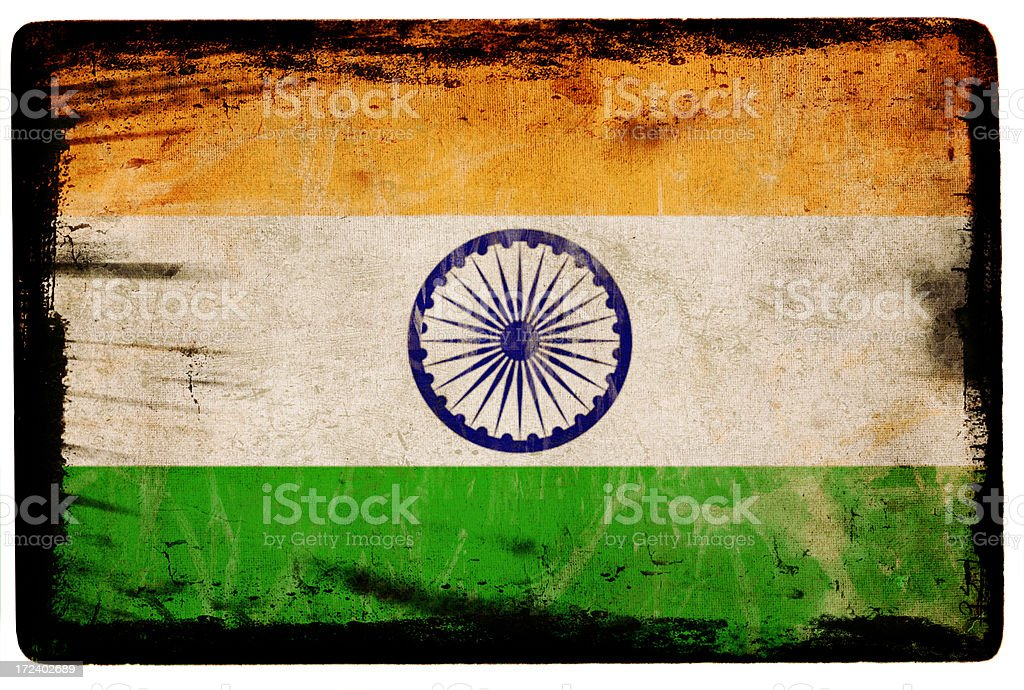 Indian Flag XXL stock photo
