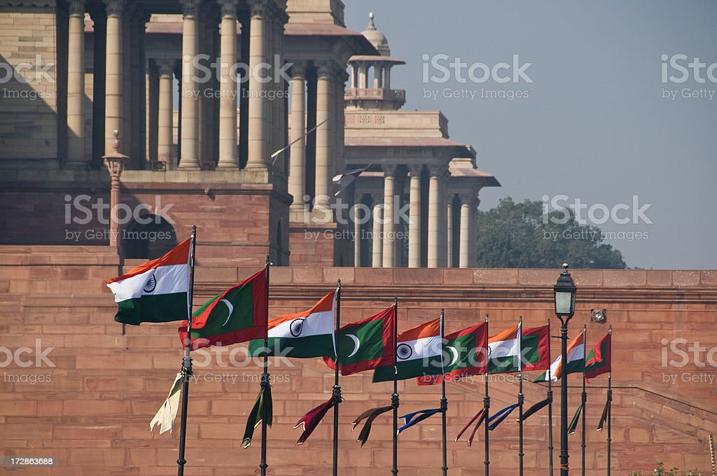 Indian Flags stock photo