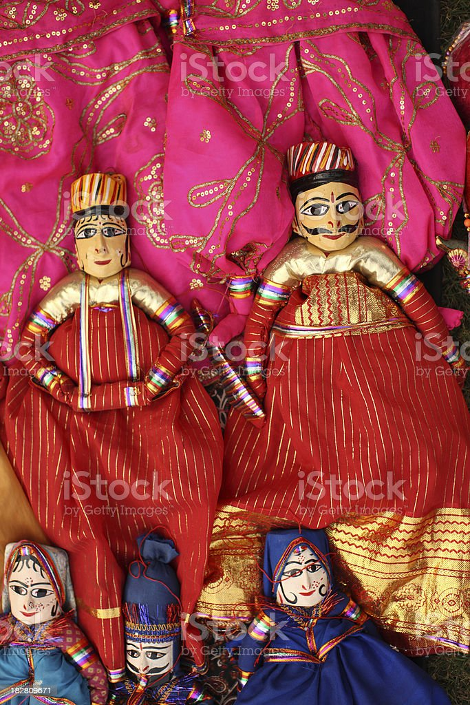 Indian Folk Dolls royalty-free stock photo