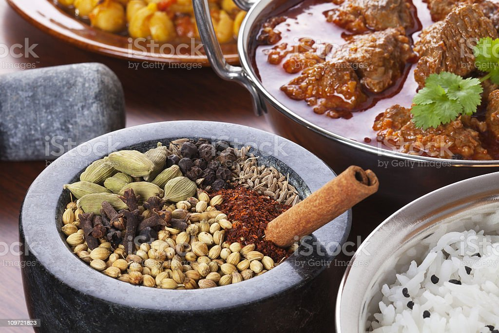 Indian Food and Spices royalty-free stock photo