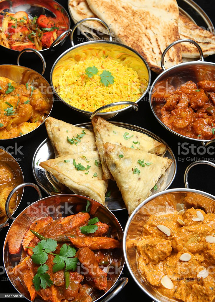 Indian Food Banquet royalty-free stock photo