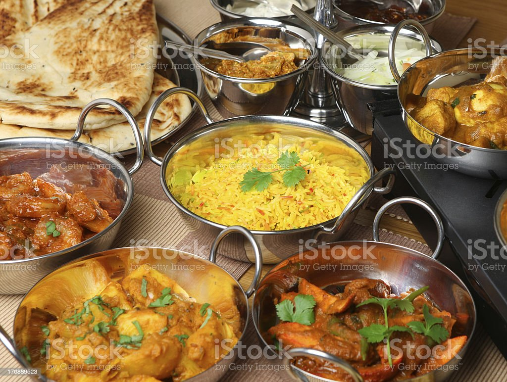 Indian Food Banquet stock photo