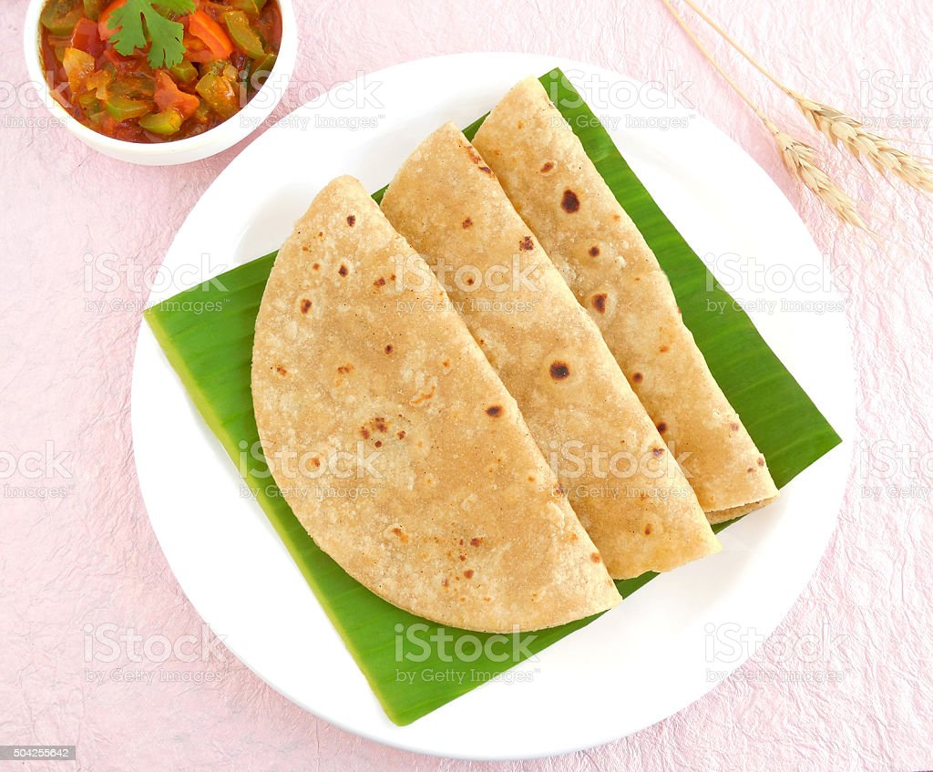 Indian Food Chapati stock photo