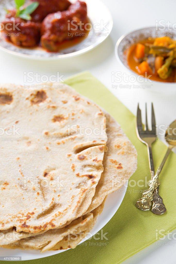 Indian food chapatti royalty-free stock photo