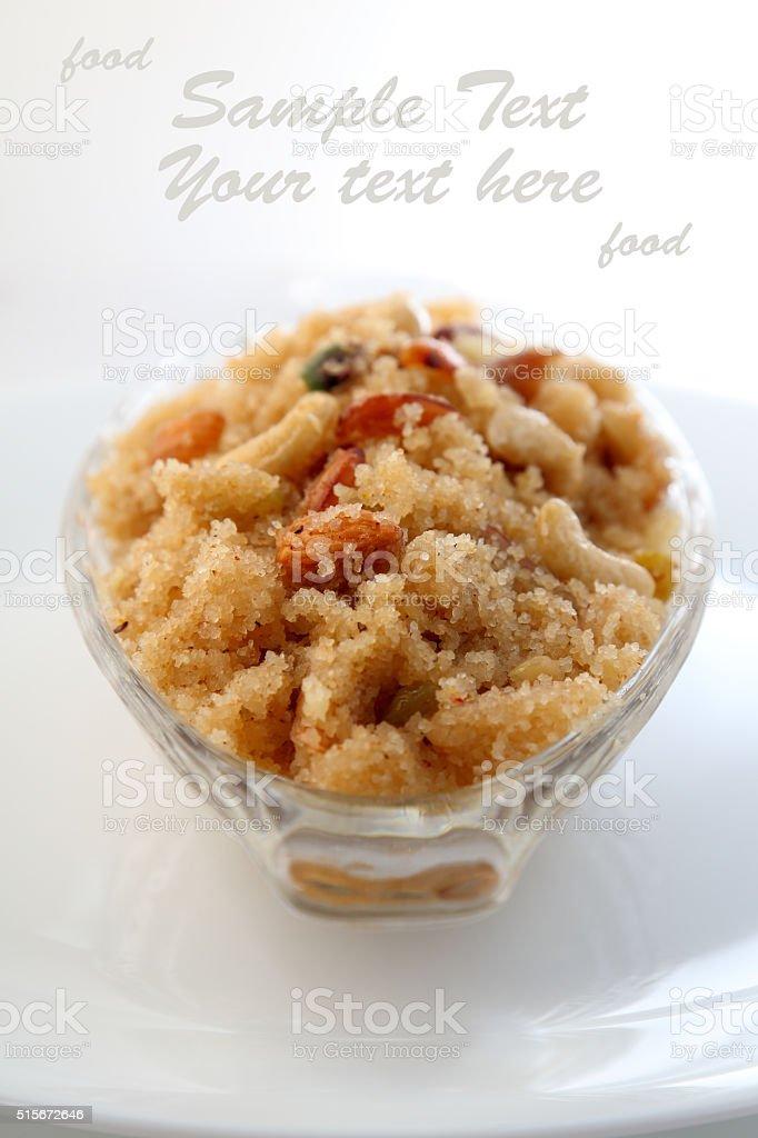 Indian food dessert - Halwa stock photo