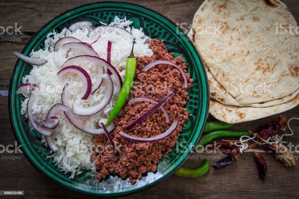 Indian food lamb stock photo