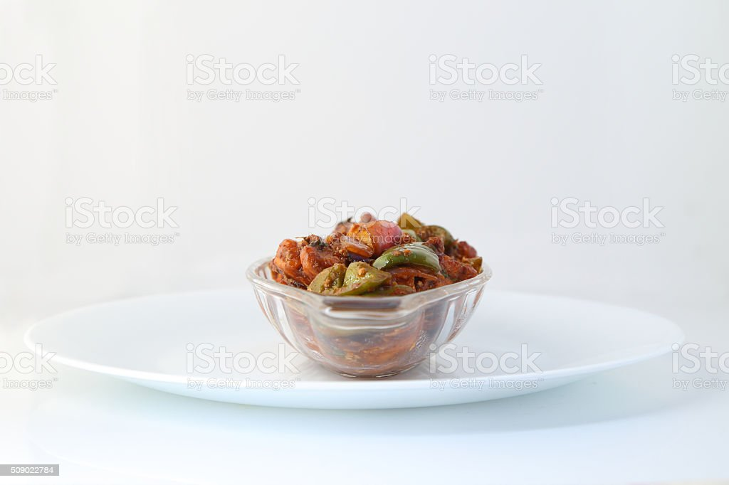 Indian food or Chinese food. stock photo