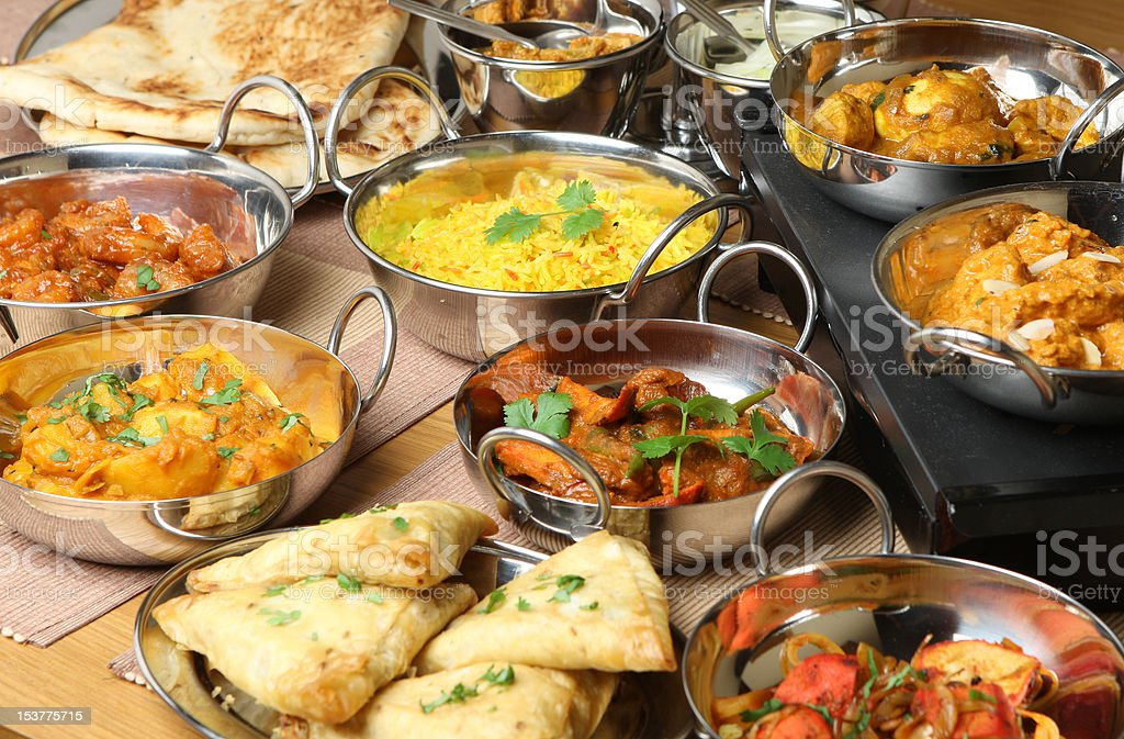 Indian Food Selection stock photo