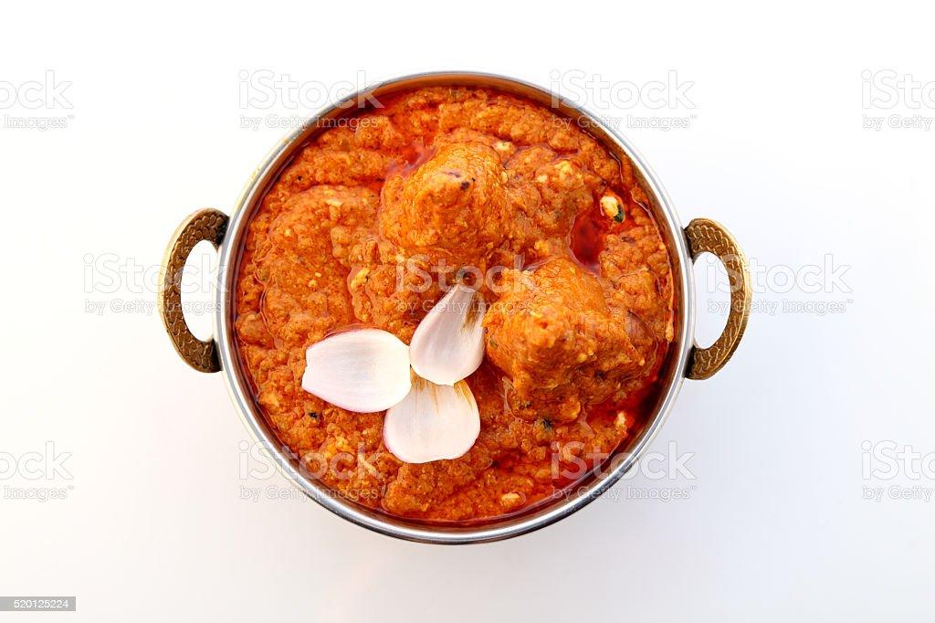 Indian food specialties. Indian dish- Malai Kofta or Veg Kofta. stock photo