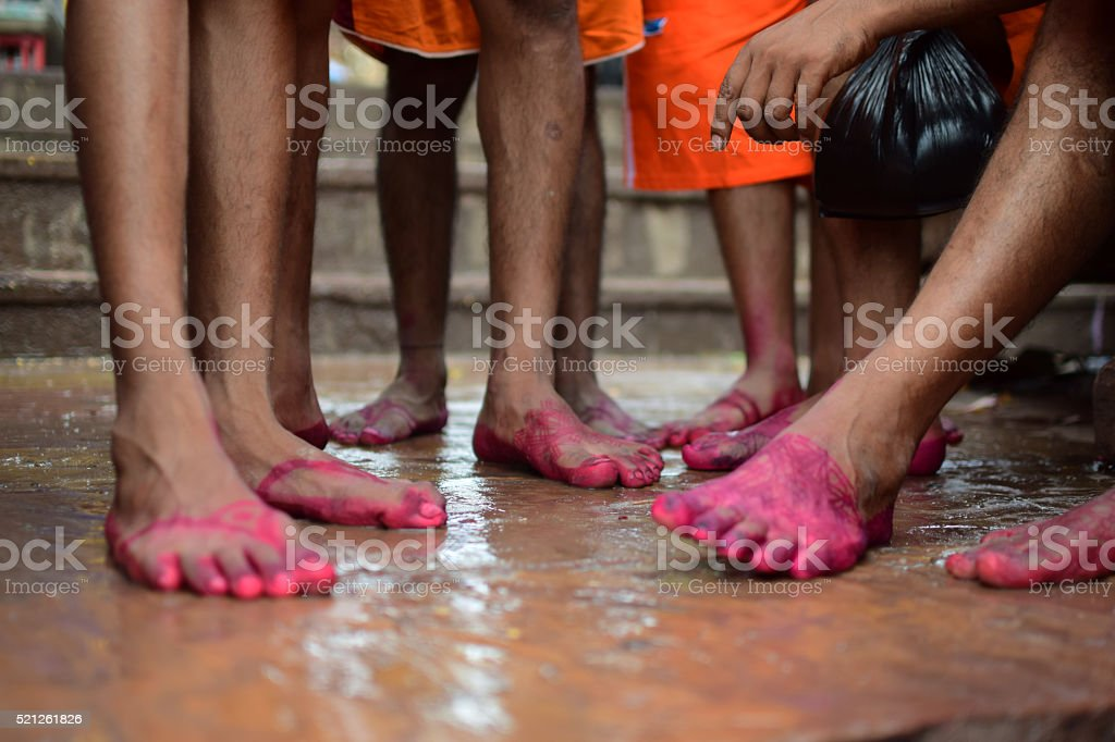 Indian Foot Art! HAPPY FEET stock photo