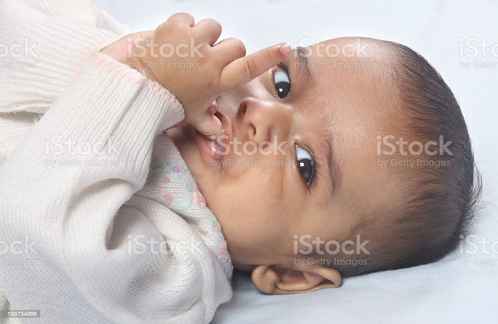 Indian Four-month old Baby royalty-free stock photo