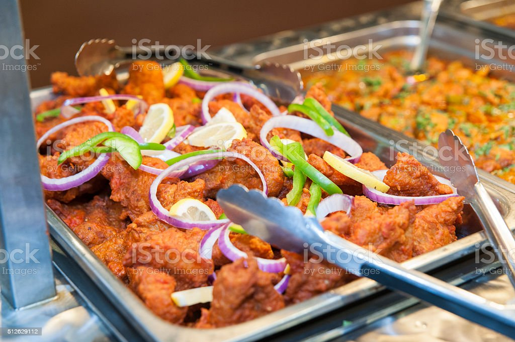Indian fried chicken stock photo