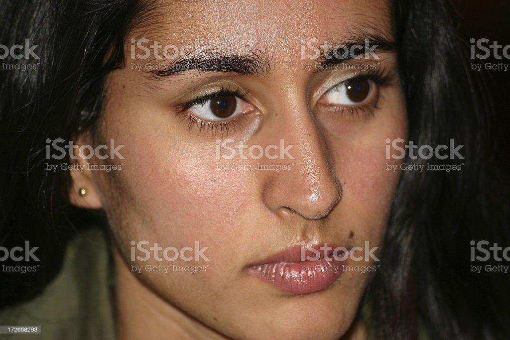 Indian girl face stock photo