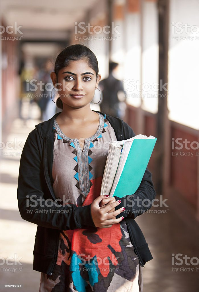 Indian girl in the University royalty-free stock photo