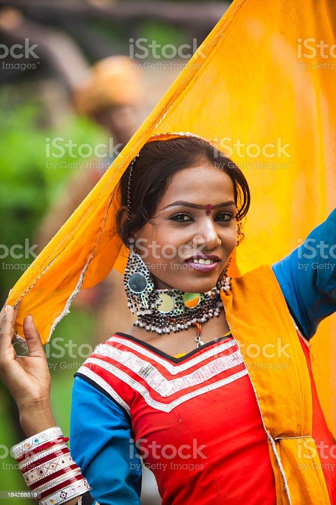 Indian Girl Posing royalty-free stock photo