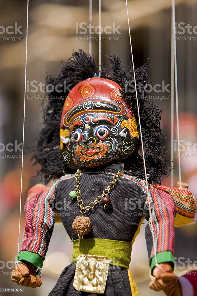 Indian god - puppet royalty-free stock photo