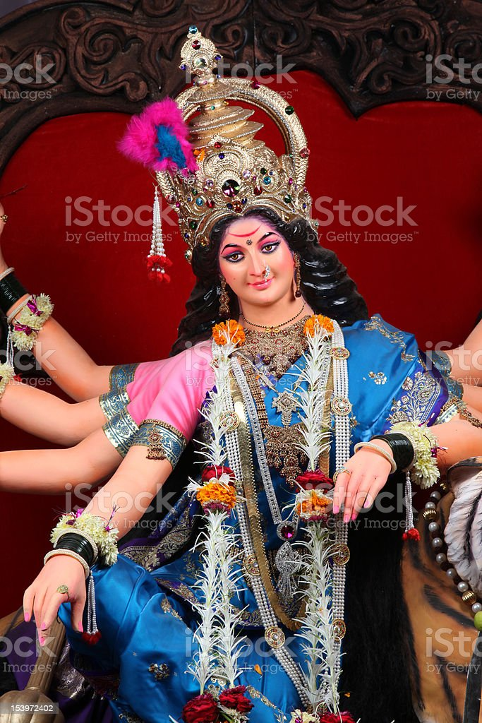 Indian goddess durga royalty-free stock photo