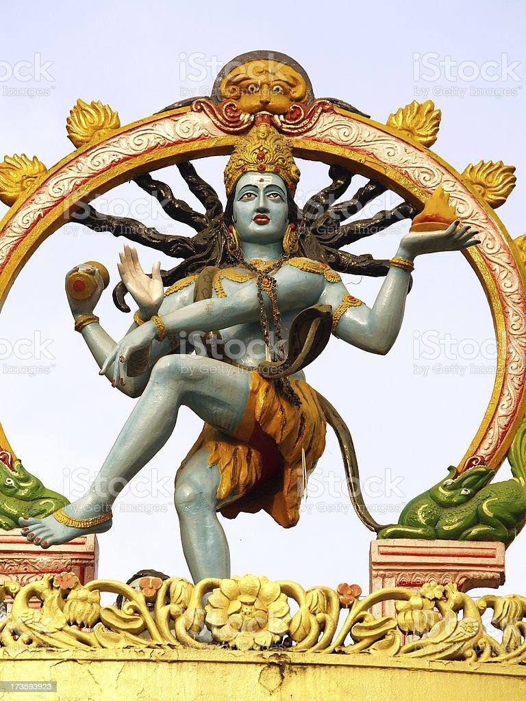 Indian Gold Shiva stock photo