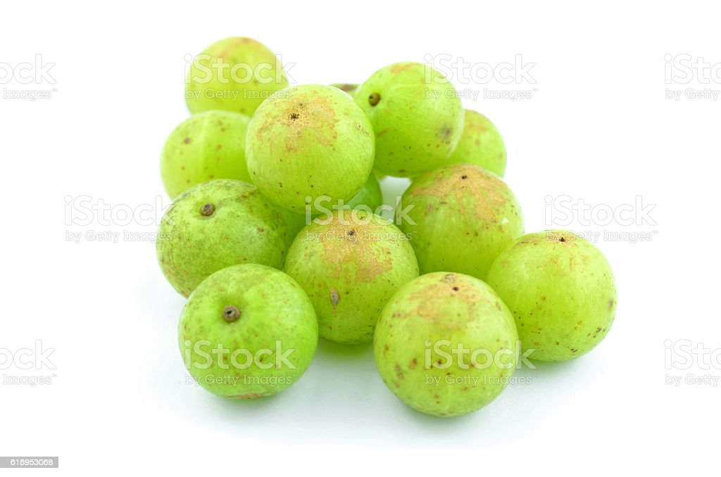 Indian gooseberry on a white background. stock photo