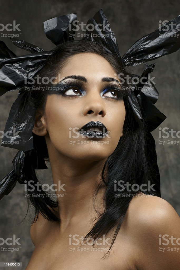indian gothic look royalty-free stock photo