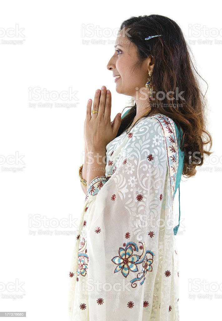 Indian greeting royalty-free stock photo