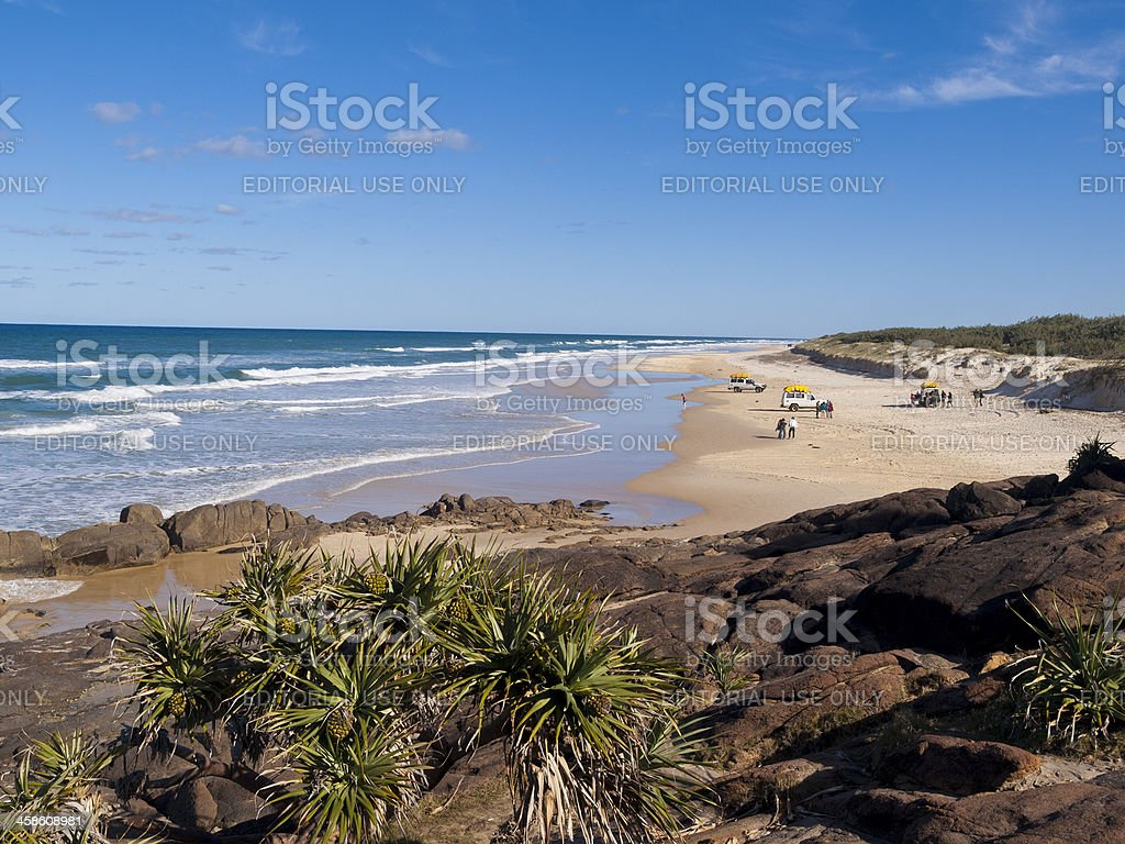 Indian Head, Fraser Island stock photo