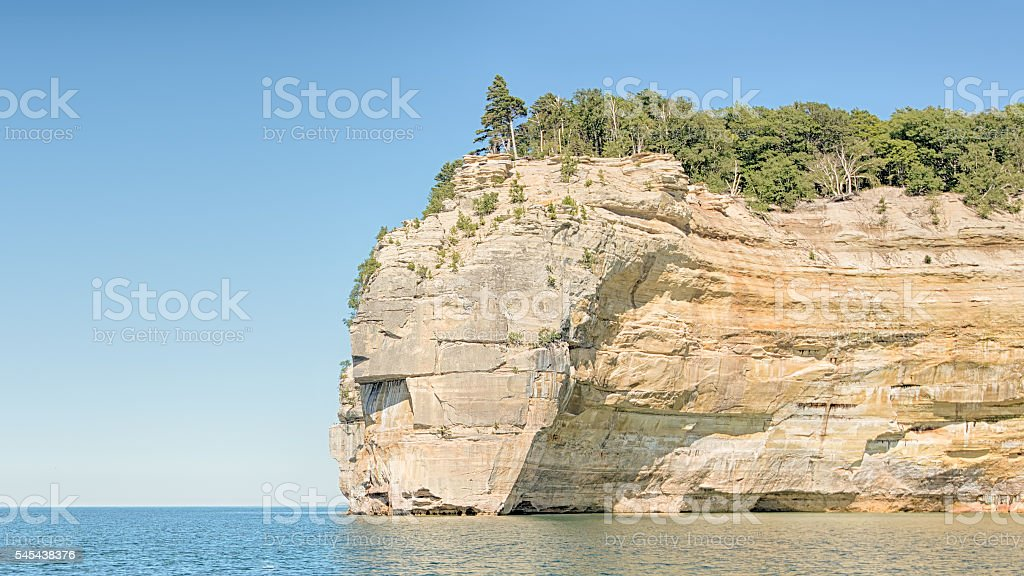 Indian Head, Pictured Rocks National Lakeshore, MI stock photo