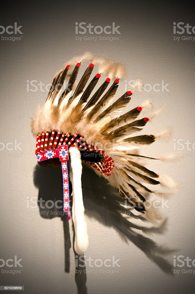 Indian Headdress stock photo