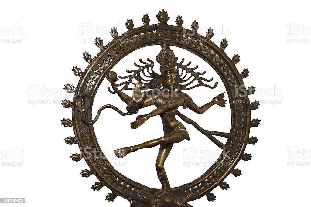 Indian hindu god Shiva Nataraja - Lord of Dance Statue royalty-free stock photo
