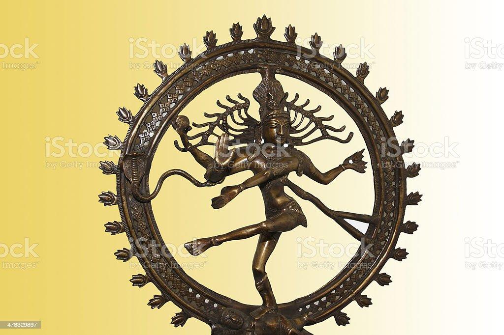 Indian hindu god Shiva Nataraja - Lord of Dance Statue stock photo