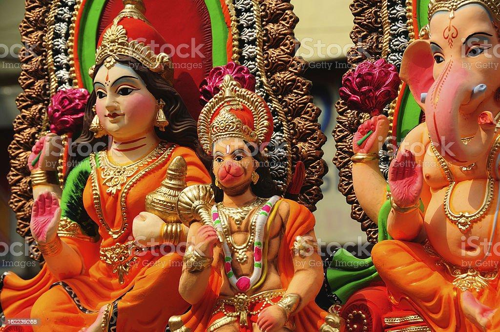 Indian Hindu Gods for Diwali stock photo
