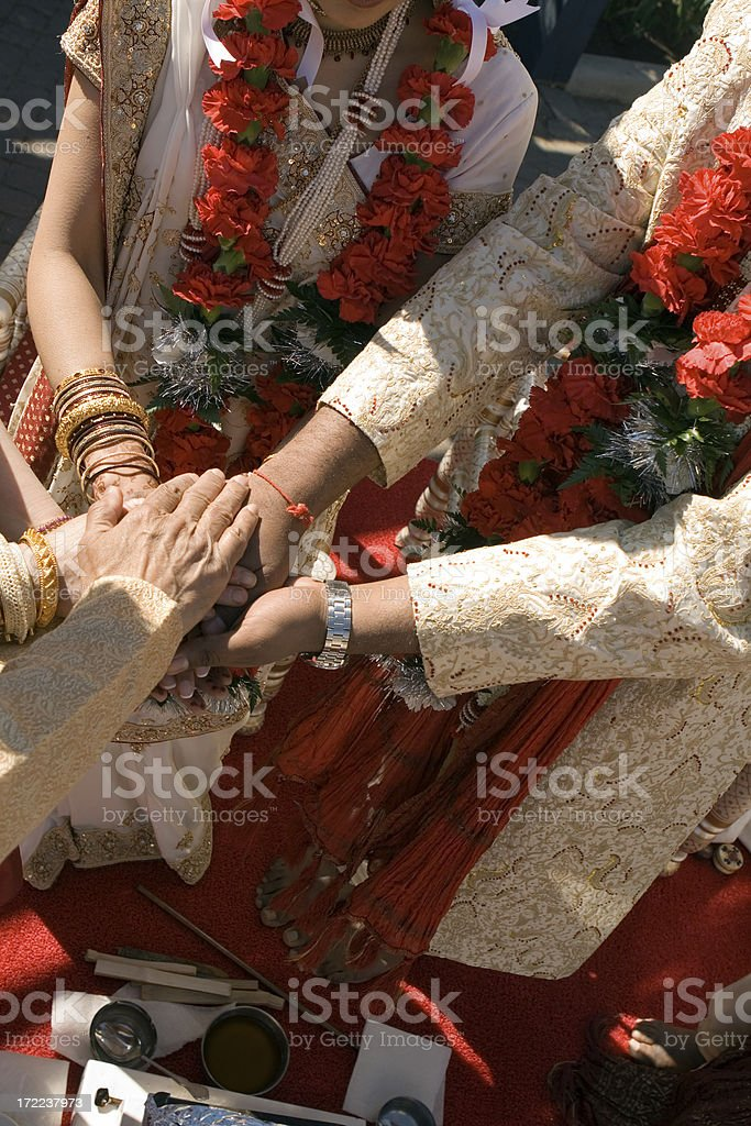 indian hindu wedding ceremony royalty-free stock photo