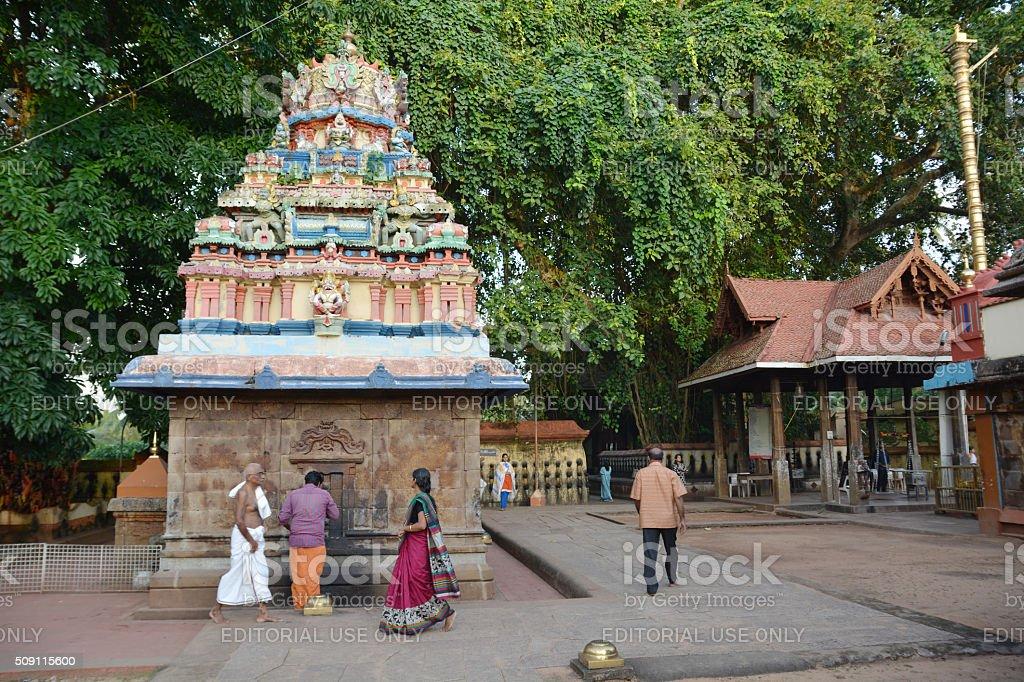 Indian hinduists praying stock photo