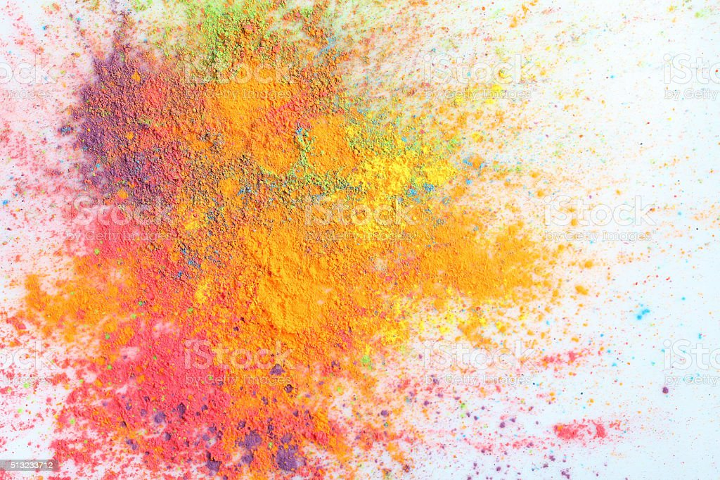 Indian Holi festival colours stock photo