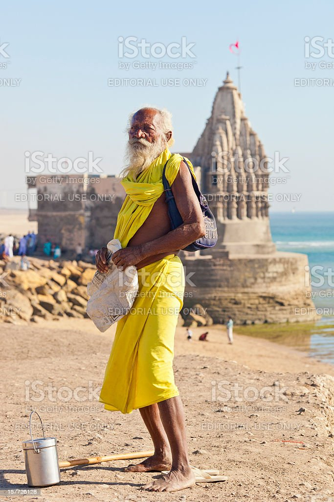 Indian Holy Man stock photo